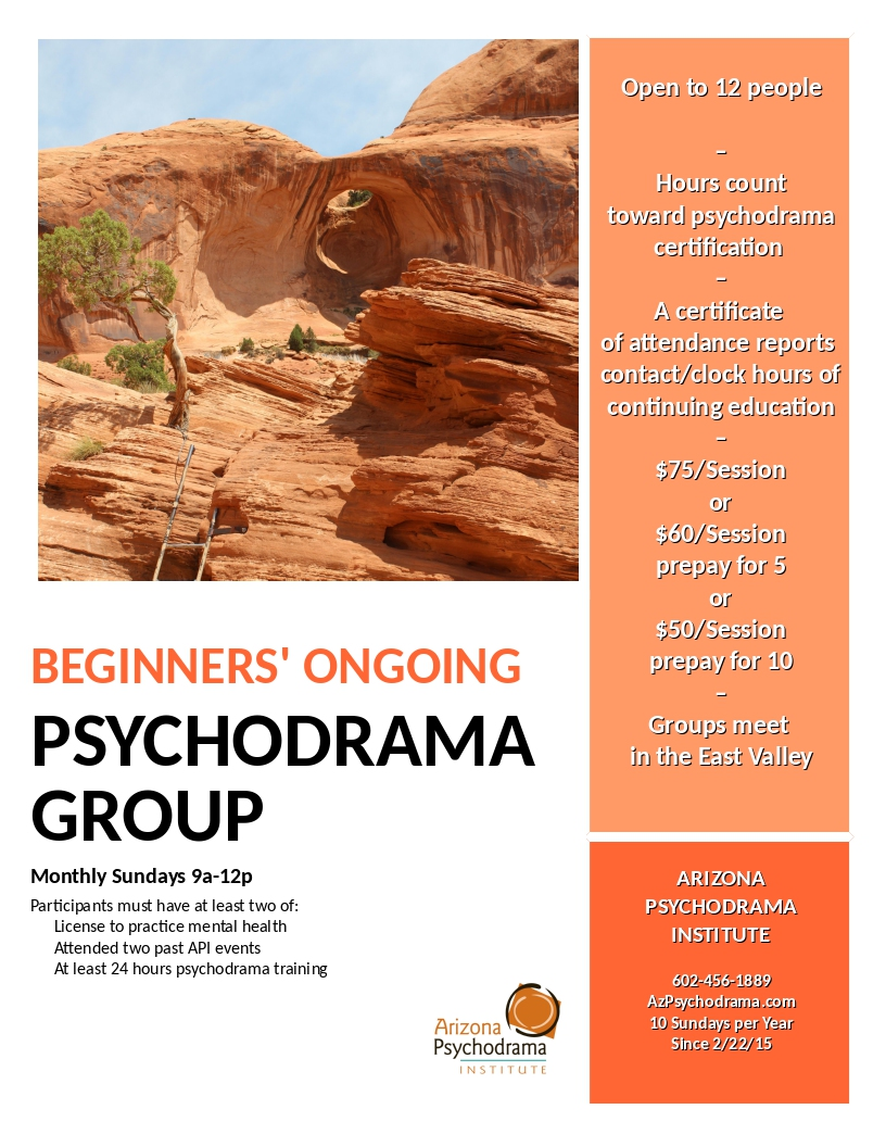 Beginners' Ongoing Psychodrama Training Group @ NEW LOCATION - Dobson Professional Plaza   | Chandler | Arizona | United States