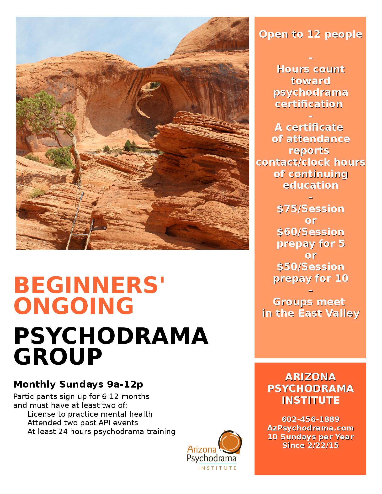 BOPTG - Beginners' Ongoing Psychodrama Training Group @ Deb Gion's Office - Dobson Professional Plaza   | Chandler | Arizona | United States